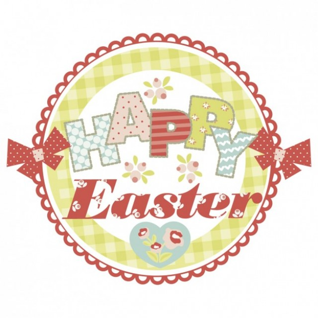Free vector Easter card in scrapbook style #30495