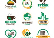Free vector Eco food badges #30595