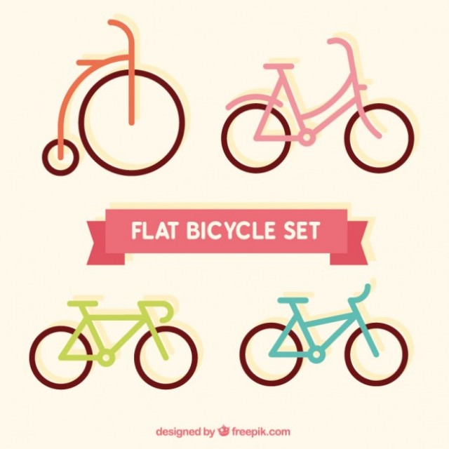 Free vector Flat bicycles set #29638