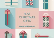 Free vector Flat christmas gifts collection #31386