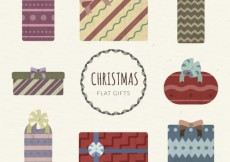 Free vector Flat christmas gifts #31289