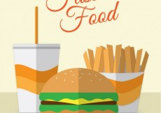 Free vector Flat  Design Fast Food #31504