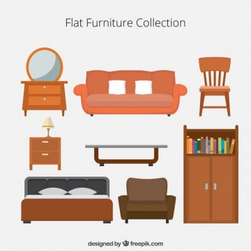 Free vector Flat Furniture Icons Collection #30503