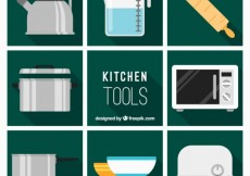 Free vector Flat Kitchen Tools Collection #31098