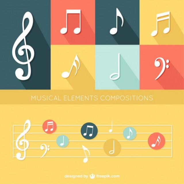 Free vector Flat Musical Elements Set #30348