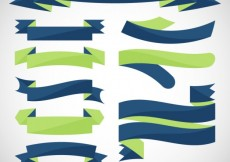 Free vector Flat ribbons collection in green and blue tones #33256