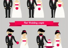 Free vector Flat wedding couple #30122