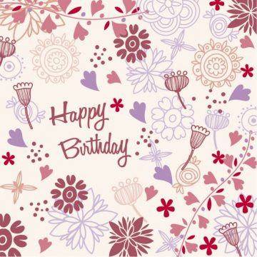 Free vector Floral birthday card #33998