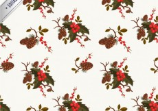 Free vector Floral christmas pattern #33501