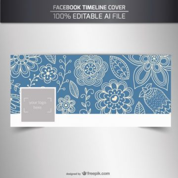 Free vector Floral facebook cover in sketchy style #32620