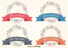 Free vector Floral Frames With Banner #34238