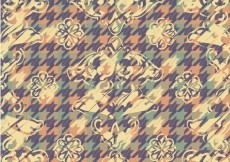Free vector Floral pastel color background with houndstooth pattern #30078