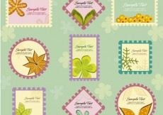 Free vector Floral stamps #34135