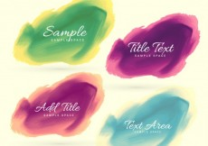Free vector Four watercolor stain #34255