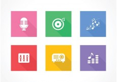 Free vector Free Flat Music Vector Icons #34444