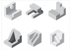 Free vector Free Isometric Vector Shapes #28235