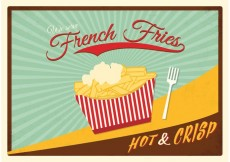Free vector Free Retro Fries With Sauce Poster Vector #33181