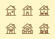 Free vector Free Townhomes Vector Icons #5 #30814