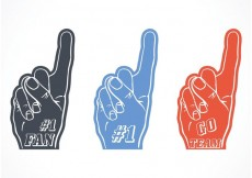 Free vector Free Vector #1 Foam Finger Set #32751