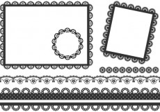 Free vector Free Vector Black Lace Frames And Borders #32987