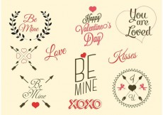 Free vector Free Vector Valentine's Day Labels #32023