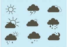 Free vector Free Vector Weather Icon Set #30520