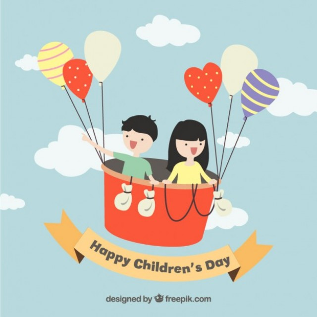 Free vector Funny illustration of children's day #32552