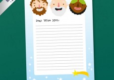 Free vector Funny letter to the wise men #29163
