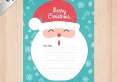 Free vector Funny santa claus letter #29542