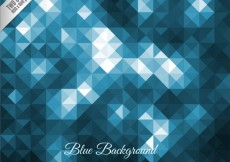 Free vector Geometric background in blue tones #29886