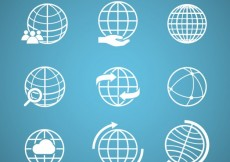 Free vector Globe icons pack #34491