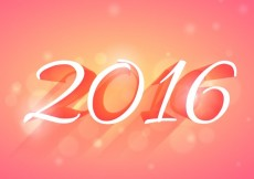 Free vector glowing 2016 new year card #31870