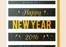 Free vector Golden new year greeting #30116