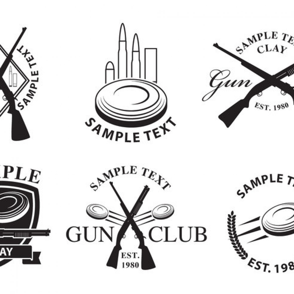 free vector gun club logos 29414 my graphic hunt