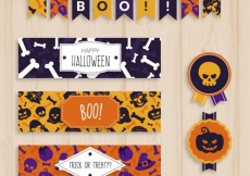 Free vector Halloween stationery and bunting #34197
