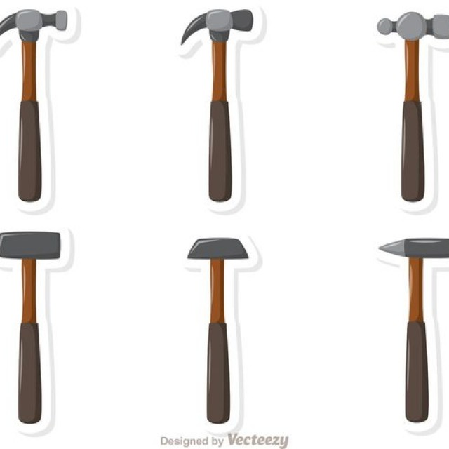 Free vector Hammers Vector Pack #34614