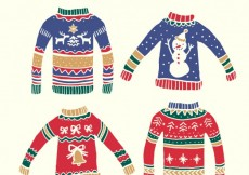 Free vector Hand drawn christmas sweaters pack #33978