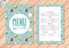 Free vector Hand drawn fast food menu #28501