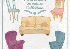 Free vector Hand drawn furniture collection #29700
