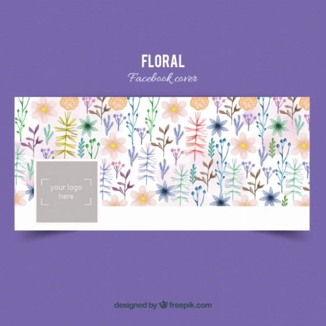Free vector Hand painted floral cover #33008