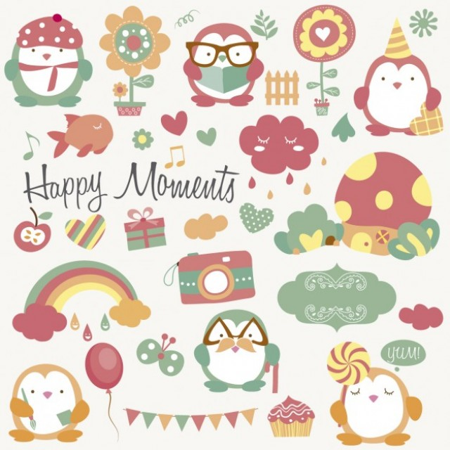 Free vector Happy moments with animals #34010
