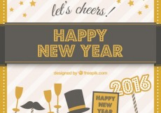 Free vector Happy New year card for 2016 #31196
