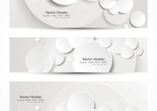 Free vector Header collection white with circles #32044