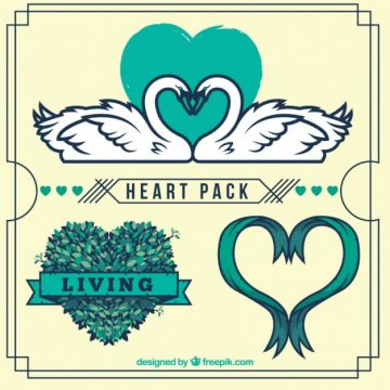 Free vector Hearts pack #33044