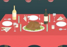 Free vector Illustration of christmas table #32332