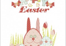 Free vector Illustration of easter rabbits and eggs #29271