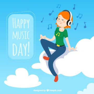 Free vector Illustration of music day #31408