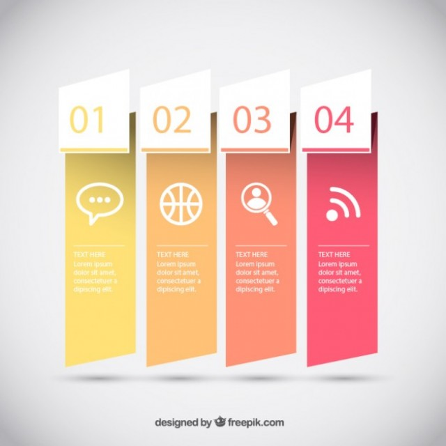 Free vector Infographic banners in yellow and orange tones #33695