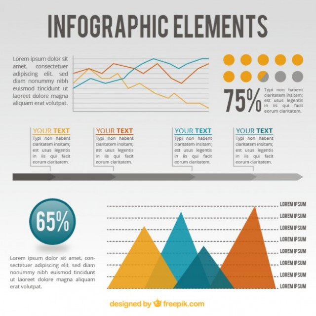 Free vector infographic elements template #33850