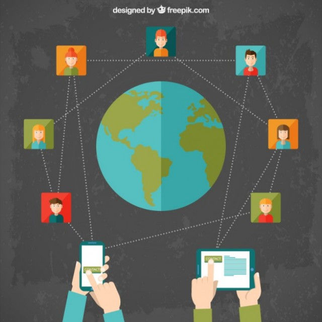 Free vector International social network cocept #34213